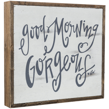 Good Morning Gorgeous Wood Decor
